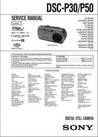 Cybershot DSC-P30 Service Manual